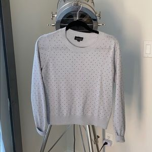 Top Shop light blue/grey beaded top